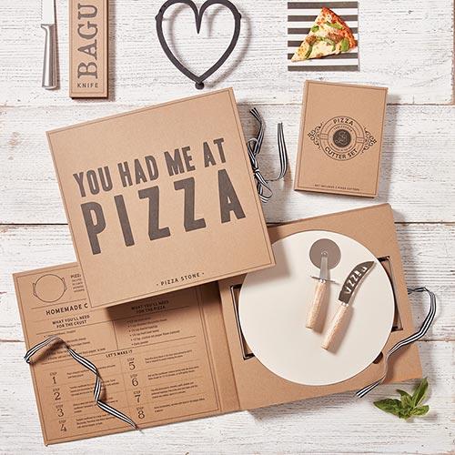 Pizza Stone Cardboard Box Set